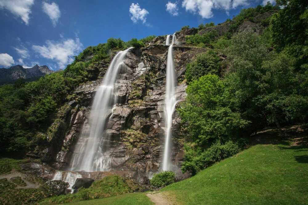 Die Acquafraggia-Wasserfälle