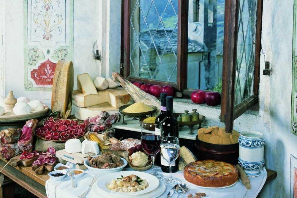 La Valchiavenna vanta una ricca tradizione gastronomica