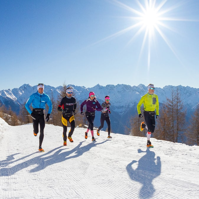 Teglio Sunset Winter Run 2020