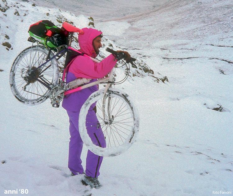 Fine anni ottanta: prima nevicata autunnale al Passo della Vallaccia