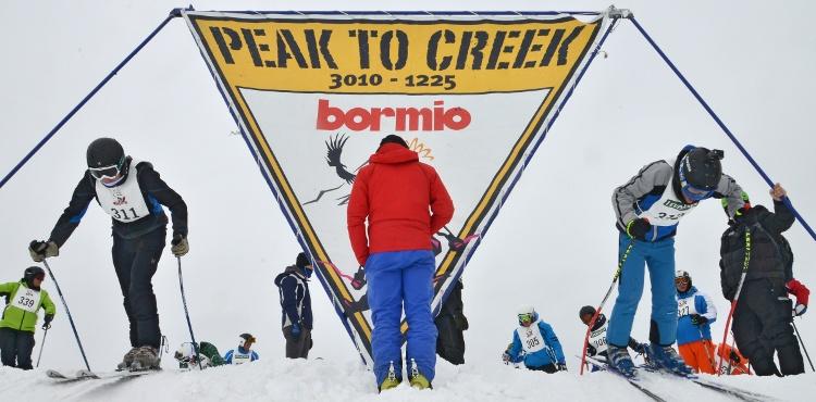 Sabato 27 gennaio 2017, a Bormio torna la Peak to Creek, la più grande sfida a coppie sugli sci. Novità 2018: la Creek to Peak, gara scialpinistica in notturna