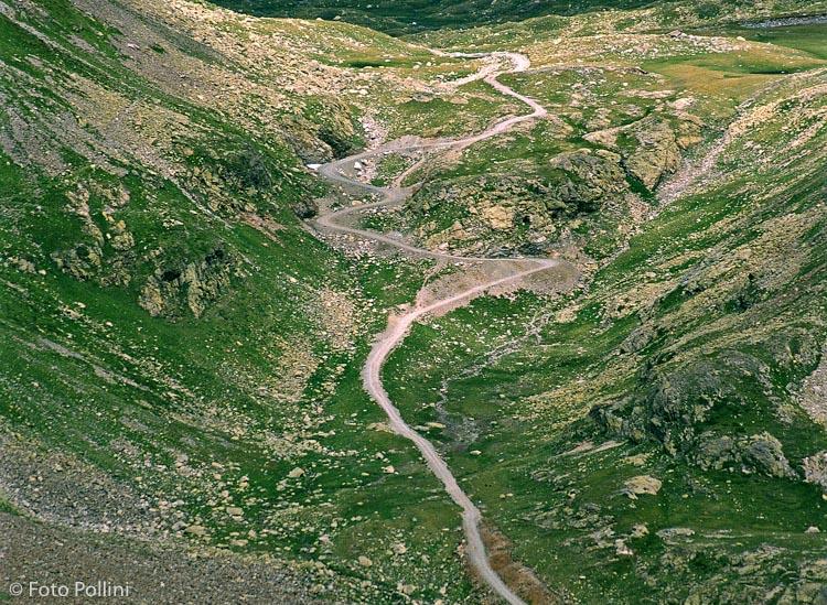 Il Passo cerva dal sentiero verso il Lago Calosso