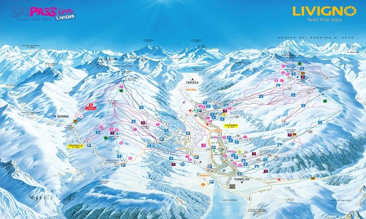 Snow all year round Alpine skiing Livigno Valtellina