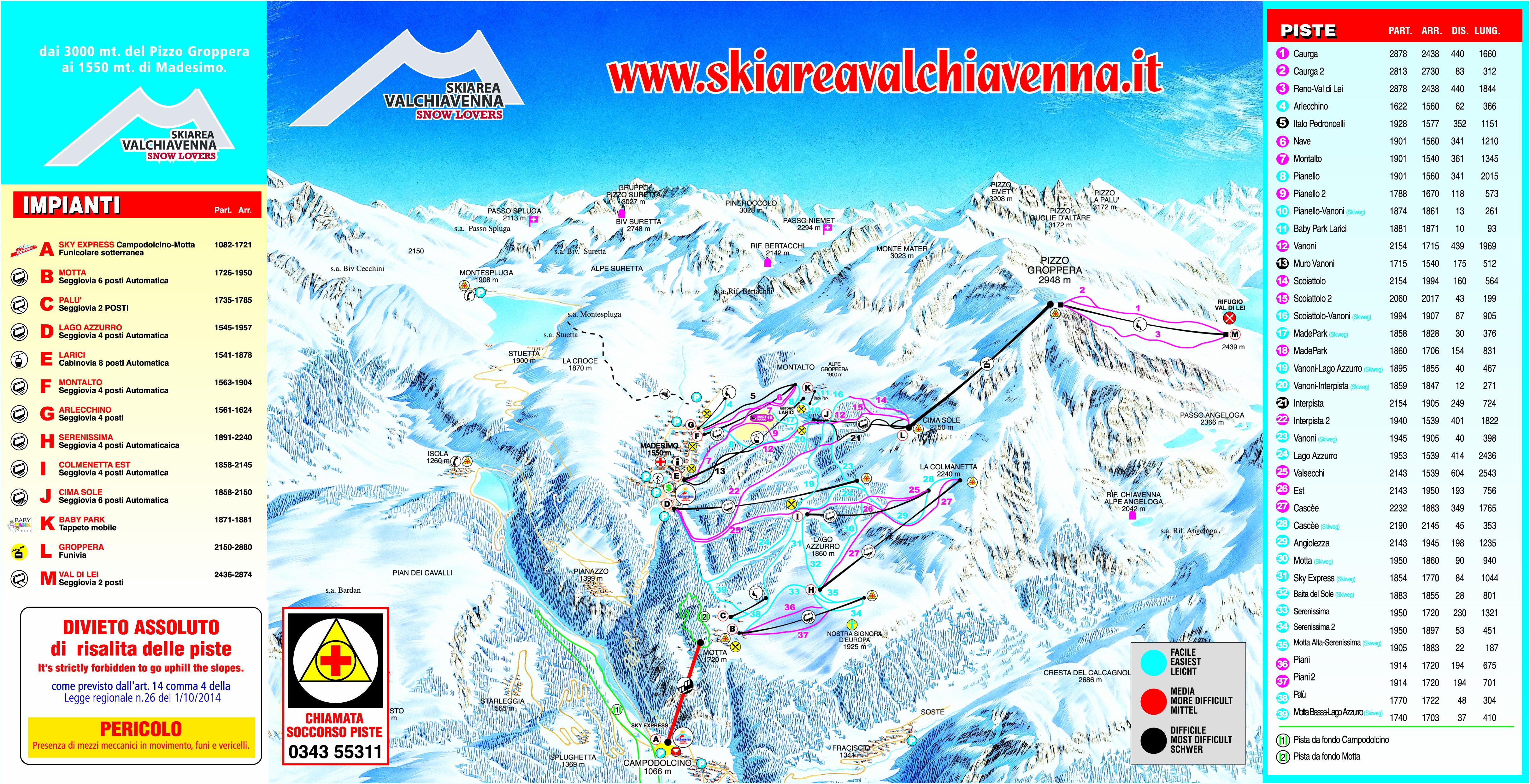 ski area madesimo