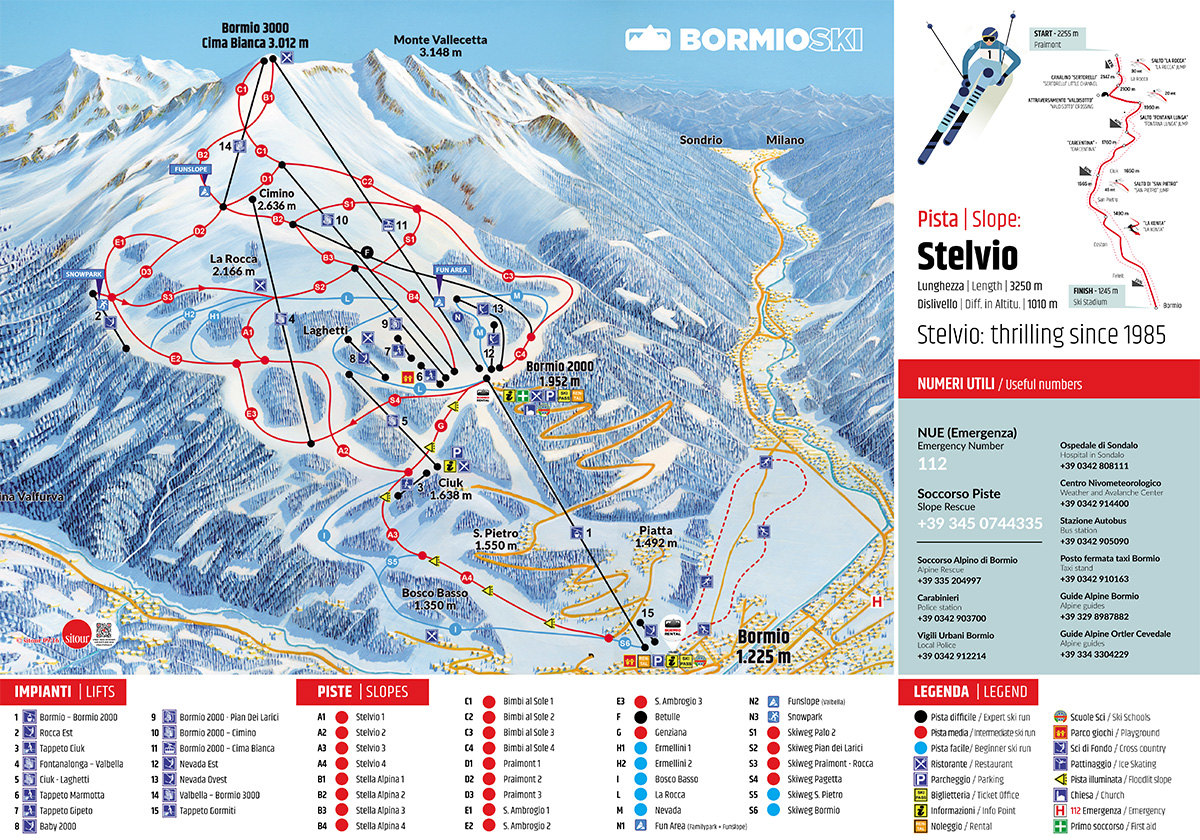 mappa ski area bormio