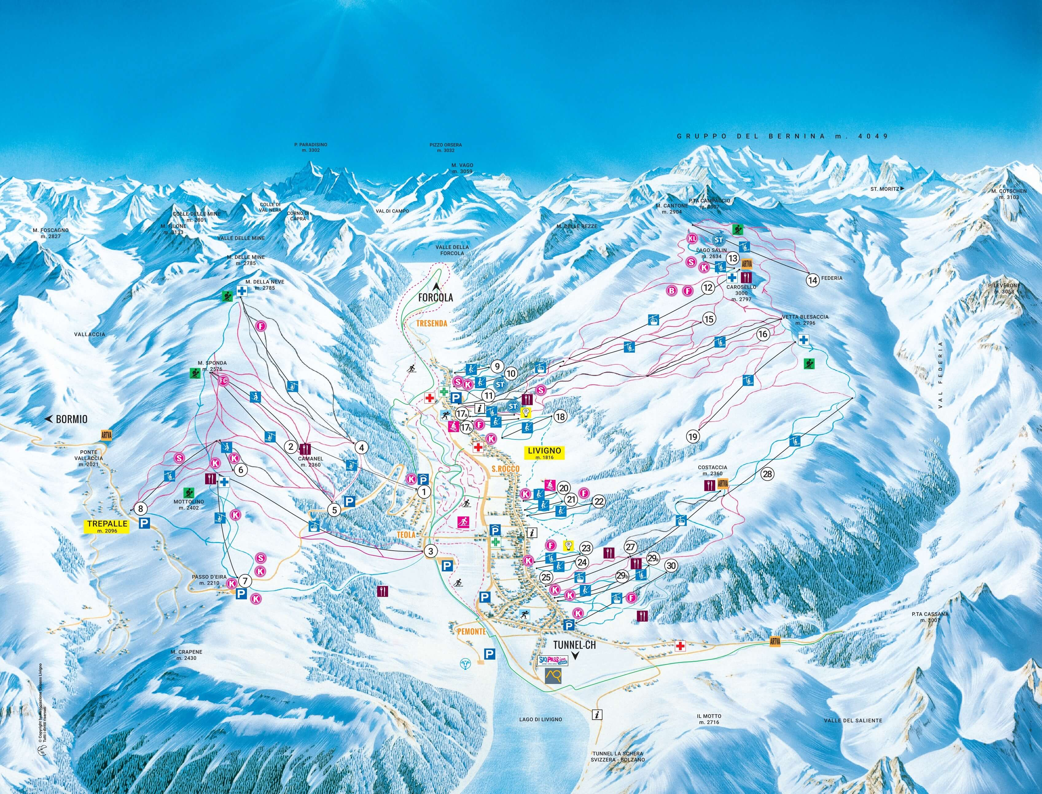 ski area livigno